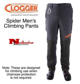 Clogger Spider Men's Climbing Pants, designed for climbing when chainsaw protection is not required.