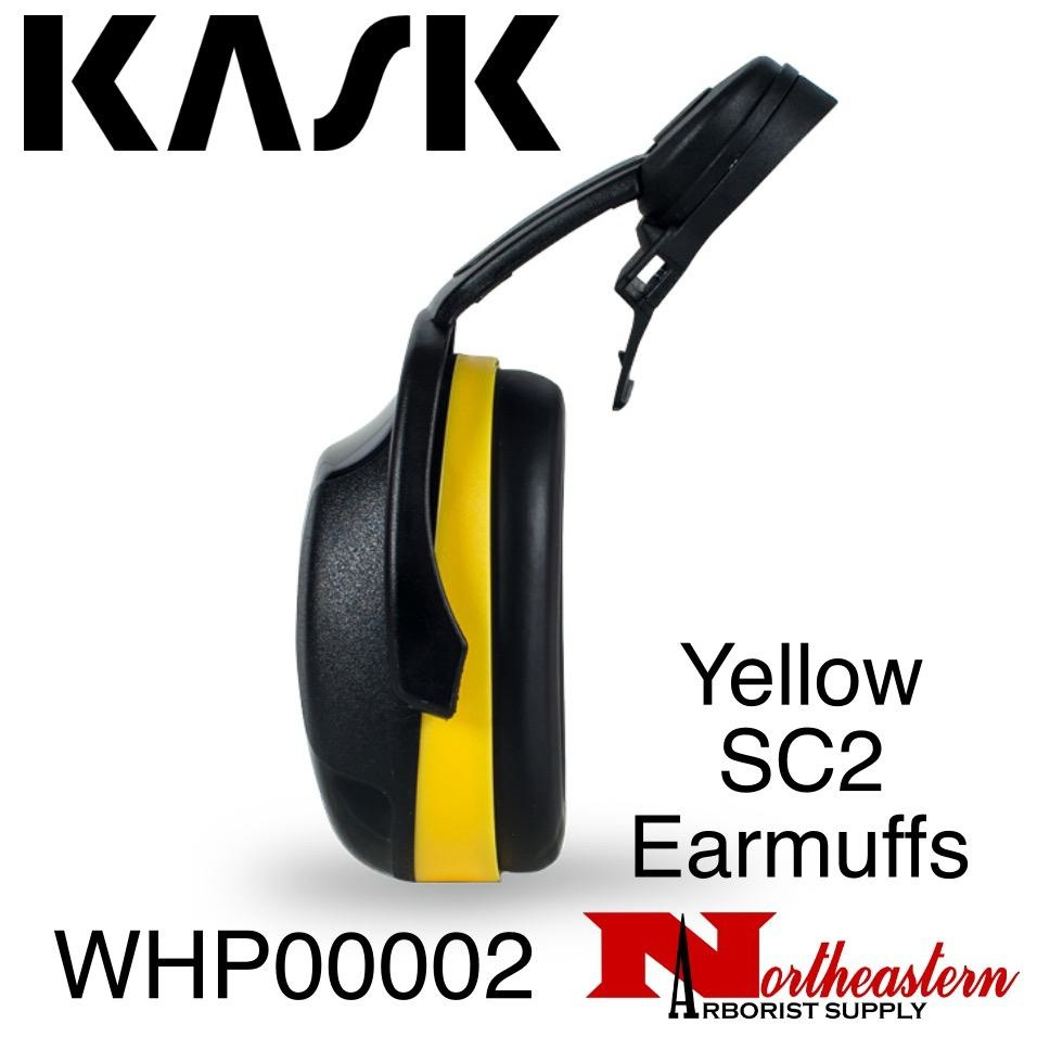 KASK Yellow SC2 Earmuffs for Medium to High Noise Level