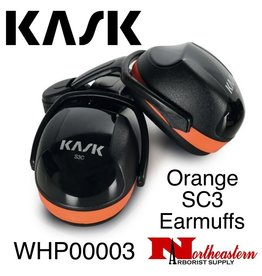KASK Orange SC3 Earmuffs for Extremely Noisy Environments