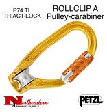 Petzl Carabiner, ROLLCLIP A Pulley-carabiner TRIACT-LOCK, 20kN Max.