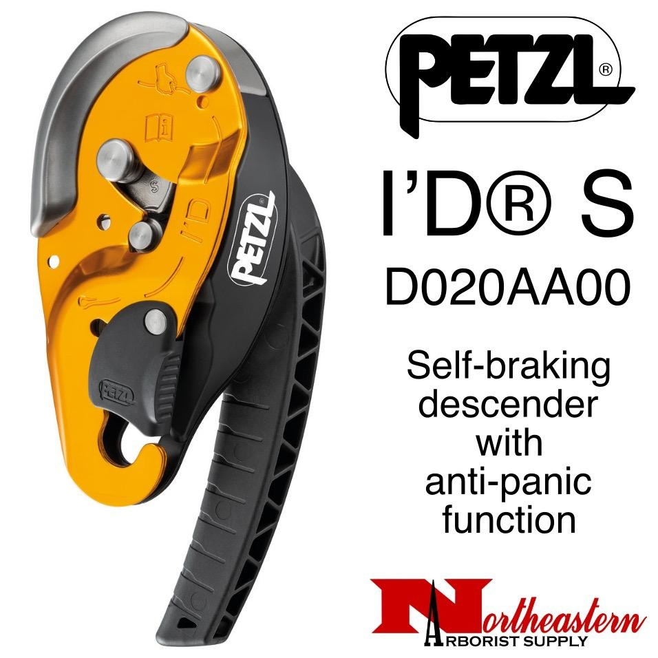 Petzl I'D® S Self-braking descender with anti-panic function