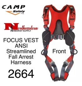 CAMP SAFETY FOCUS VEST ANSI A streamlined fall arrest harness