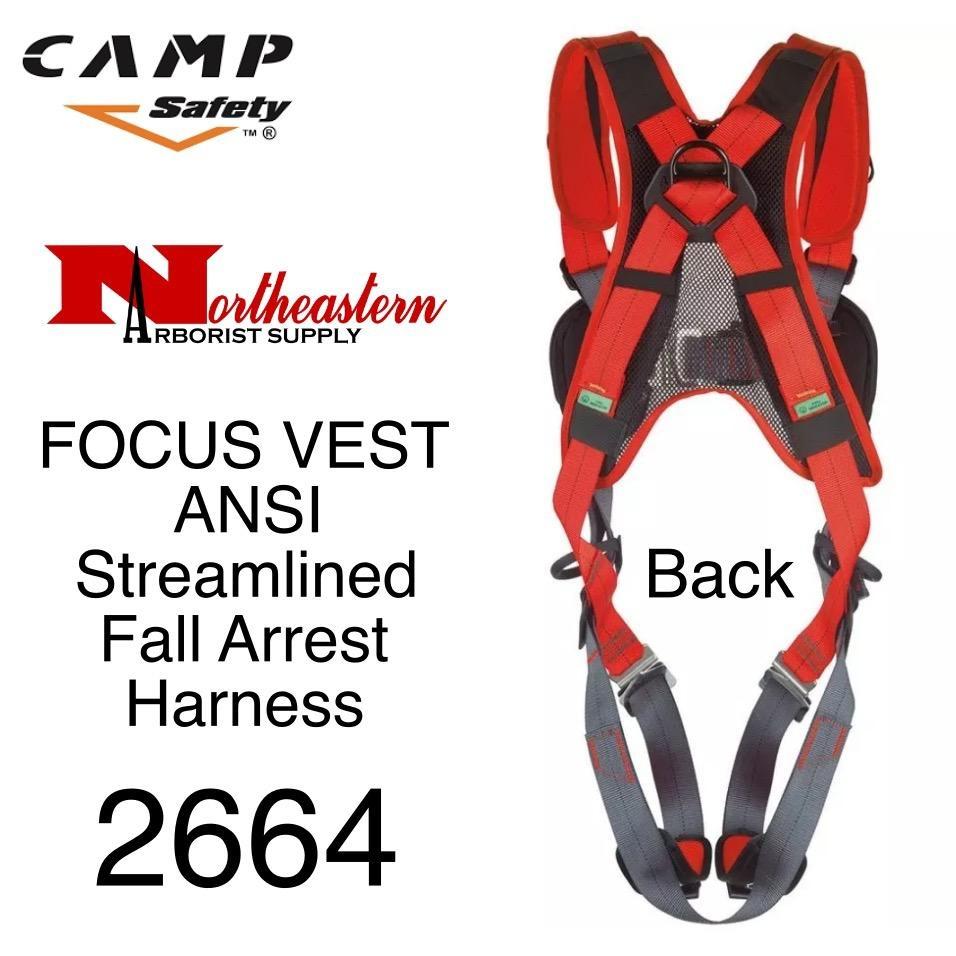 CAMP SAFETY FOCUS VEST ANSI A streamlined fall arrest harness