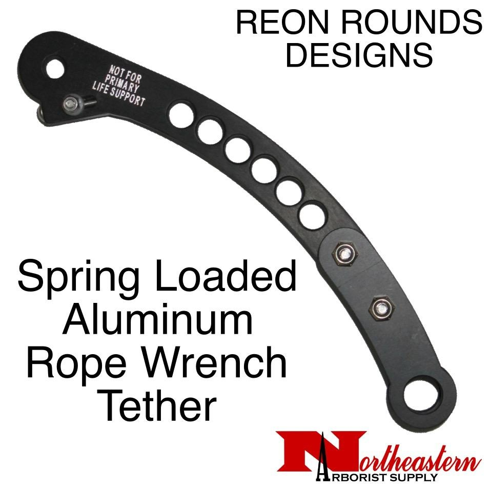 REON ROUNDS Tether, a spring loaded aluminum rope wrench tether