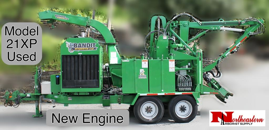 Bandit® INTIMIDATOR™ 21XP - Towable Drum Style Hand-Fed Chipper, Used