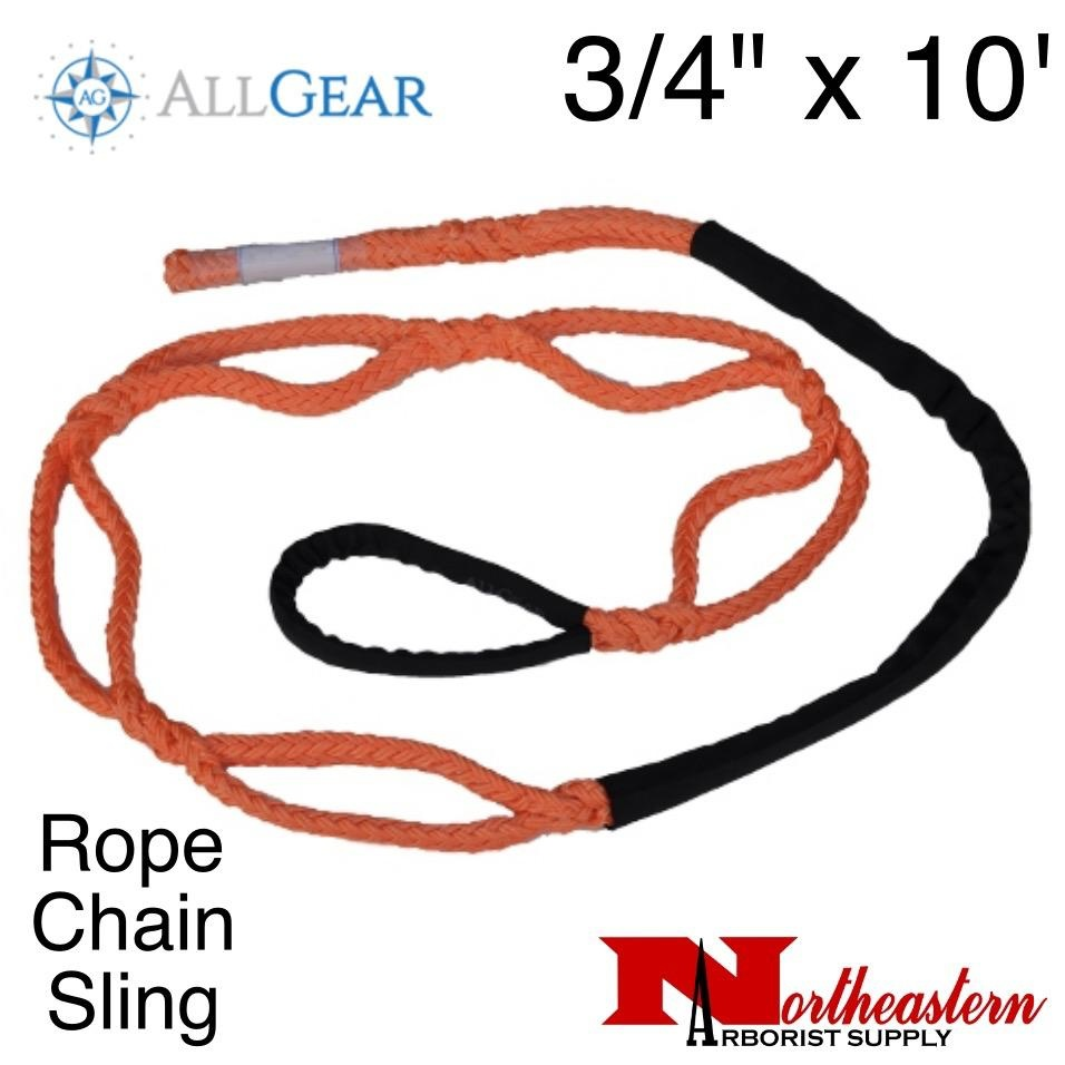 "All Gear Inc. Rope Chain Sling 3/4"" x 10'"