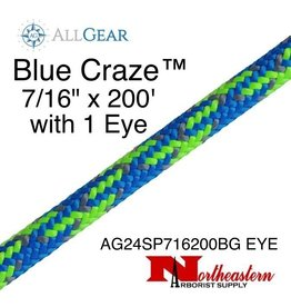 "All Gear Inc. Blue Craze™ 7/16"" x 200' with One Eye, 24-Strand Braided Polyester"
