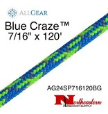 "All Gear Inc. Blue Craze™ 7/16"" x 120', 24-Strand Braided Polyester"