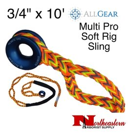 "All Gear Inc. Multi Pro Soft Rig Sling 3/4"" x 10' 12-Strand Polyester"