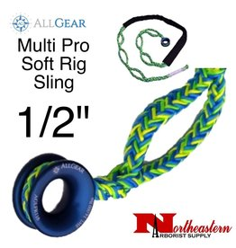 "All Gear Inc. Multi Pro Soft Rig Sling 1/2"" x 8' 12-Strand Polyester"