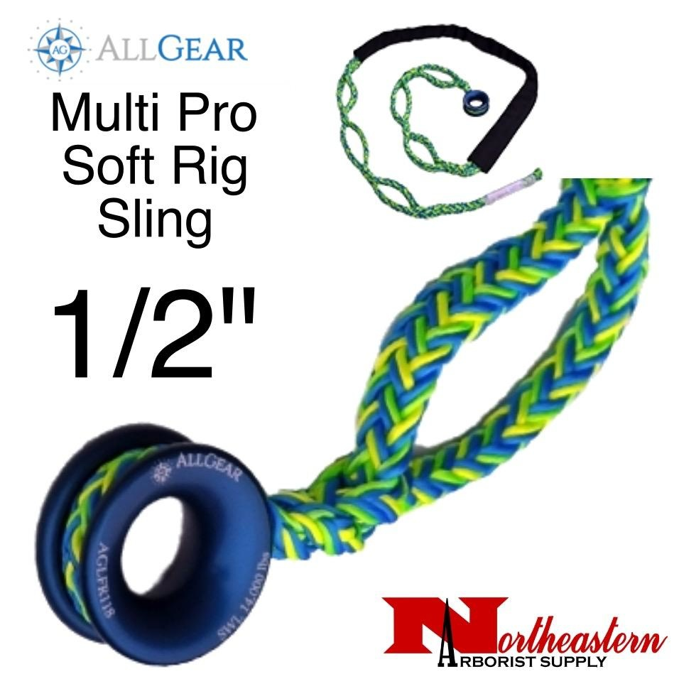"All Gear Inc. Multi Pro Soft Rig Sling 1/2"" x 10' 12-Strand Polyester"