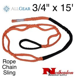 "All Gear Inc. Rope Chain Sling 3/4"" x 15'"