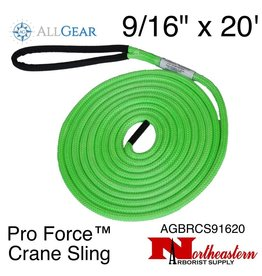 "All Gear Inc. Pro Force™ Crane Sling (Dead Eye) 9/16"" x 20' 23,500 lbs. ABS"