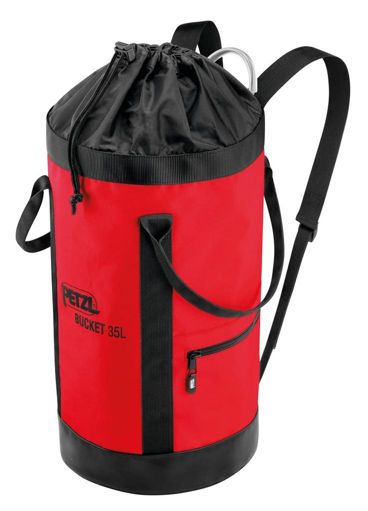Petzl Rope Buckets in 25 and 35 liters Sizes, Red or Yellow