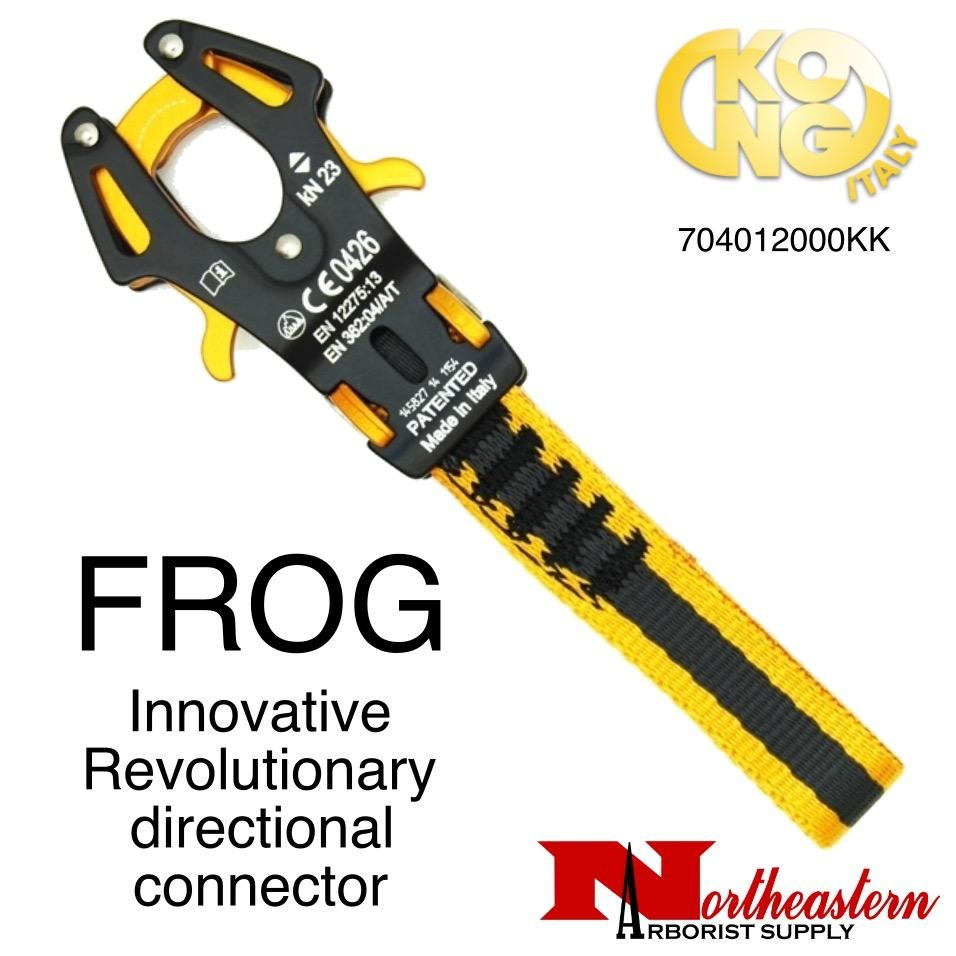 KONG FROG a revolutionary directional connector with an automatic clamping action that engages when it touches the anchor point.