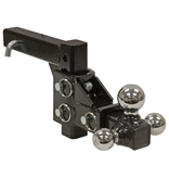 Bandit® Parts Adjustable Tri-Ball Hitch Solid Shank With Chrome Balls