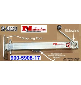 Bandit® Parts Jack Stand Square with Footplate - Drop Leg - Sidewind, Static: 8,000 lbs, Lift: 5,000 lbs