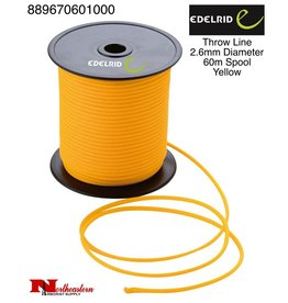 EDELRID Throw Line 2.6mm Diameter, 60m Spool, Yellow