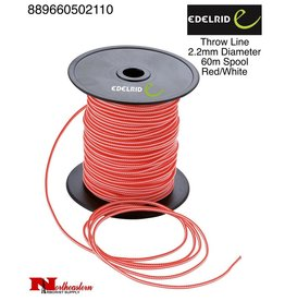 EDELRID Throw Line 2.6mm Diameter, 60m Spool, Red/White