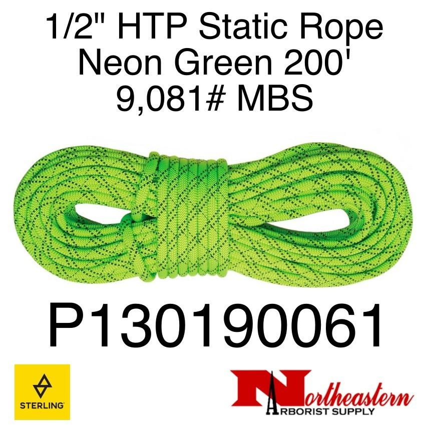 "Sterling 1/2"" HTP Static Neon Green 9,081# MBS"