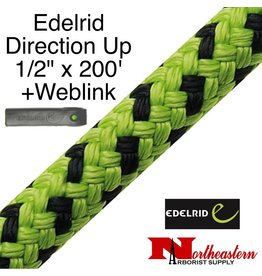 """EDELRID Direction Up 1/2"""" x 200' with Weblink"""