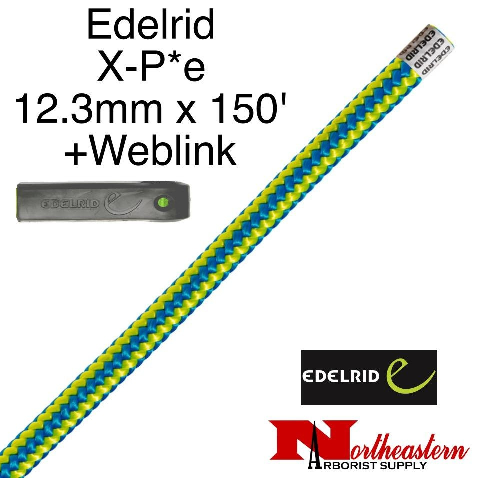 EDELRID X-P*e 12.3mm x 150' with Weblink Timber Blue