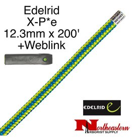 EDELRID X-P*e 12.3mm x 200' with Weblink, Timber Blue