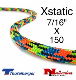 Teufelberger Xstatic,Extra static SRT rope, with sewn eye one end, 11.7mm x 150ft
