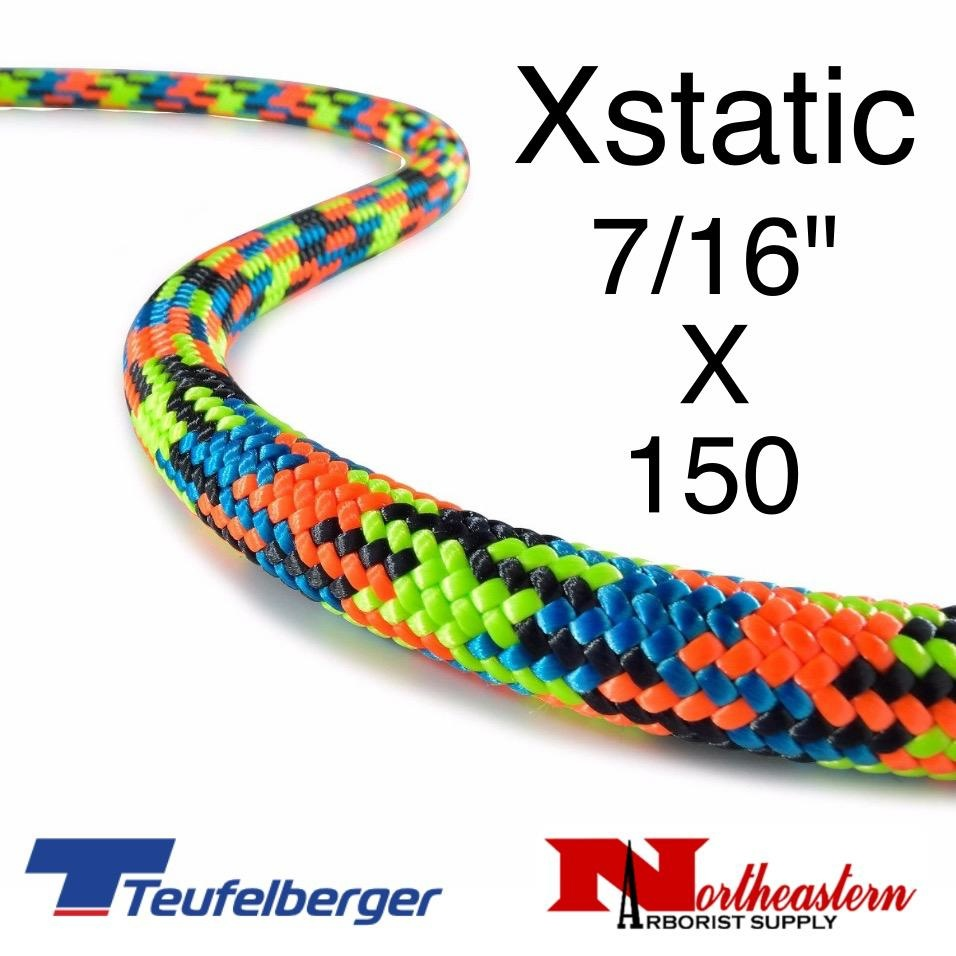 Teufelberger Xstatic, Extra static SRT rope, with sewn eye one end, 11.7mm x 150ft