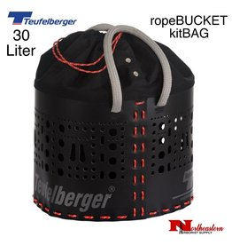 Teufelberger kitBAG 30 liter has the same bottom size as ropeBUCKET 50 liter