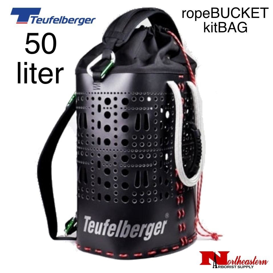 Teufelberger ropeBUCKET 50 liter bag also comes with shoulder straps and the comfort handle