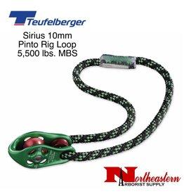 Teufelberger Sirius 10mm Pinto Rig Pulley Loop, 5,500lbs. MBS