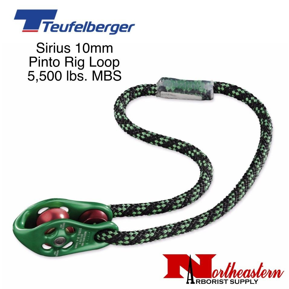 Teufelberger Sirius 10mm Pinto Rig Pulley Loop, 5,500lbs. MBS