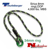 Teufelberger Sirius ringLOOP Friction Hitch 8 mm x 43cm with 34 mm ring