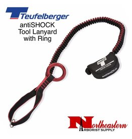 Teufelberger antiSHOCK Chainsaw Lanyard with Ring and Tear Webbing