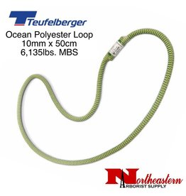 Teufelberger Ocean Polyester Loop, Green/Yellow 10 mm x 50cm 6,135lbs. MBS