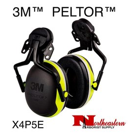 3M PELTOR X Series X4P5E Helmet Mount Earmuff Assembly Yellow