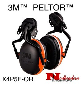 3M PELTOR X Series X4P5E-OR Helmet Mount Earmuff Assembly Orange
