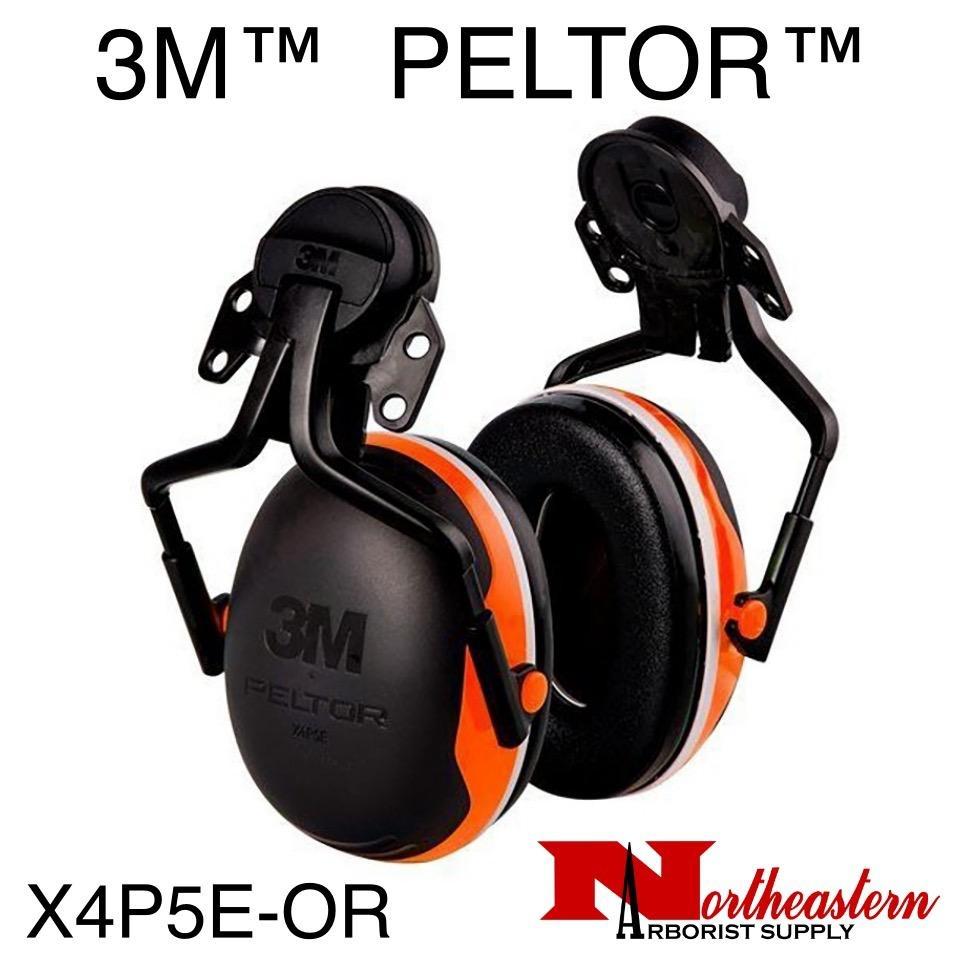 3M PELTOR X Series X4P5E-OR Helmet Mount Earmuff Assembly Orange