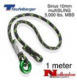 Teufelberger Sirius multiSLING Black/Green 10mm x 1m 5,000lbs. MBS