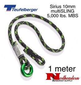 Teufelberger Sirius multiSLING Black/Green 10mm x 1m 5,000lbs. MBS