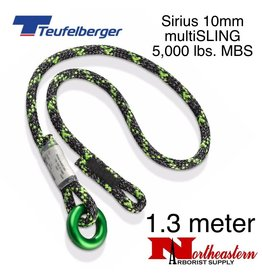 Teufelberger Sirius multiSLING Black/Green 10mm x 1.3m 5,000lbs. MBS
