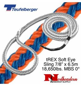 "Teufelberger tREX Soft Eye Sling 7/8"" x 6.5m 18,650lbs. MBS, Pull in 0°"