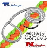 "Teufelberger tREX Soft Eye Sling 3/4"" x 6.5m 13,260lbs. MBS, Pull in 0°"