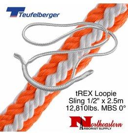 """Teufelberger tREX Loopie 1/2"""" x 2.5m 12,810lbs. MBS 0°"""