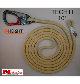 @ HEIGHT TriTech™ Single Positioning Lanyard 10' with SH901 Snap & Sewn Eye