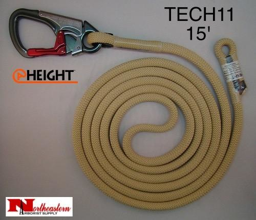@ HEIGHT TriTech™ Single Positioning Lanyard 15' with SH901 Snap & Sewn Eye
