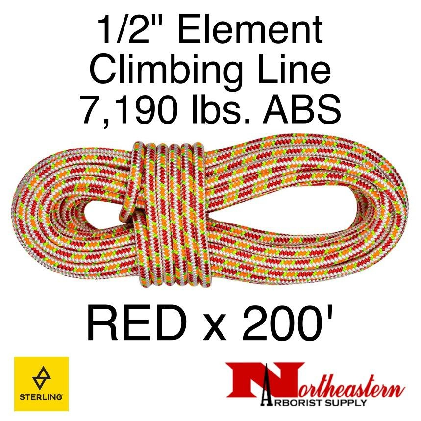 "Sterling 1/2"" Element Red 7,190 lbs. ABS"