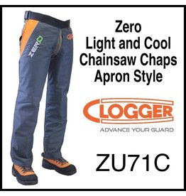 "Clogger ""Zero"" Light and Cool Chainsaw Chaps, Apron Style"