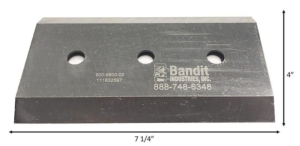"""Bandit® Parts Knife for M100-250 3/8"""" Thick 7+1/4"""" x 4"""" (PRE XP's)"""